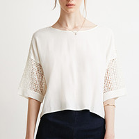 Crochet-Paneled Boxy Top