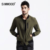 Men's Simwood Winter Windbreaker Bomber Jacket Cotton Coat Jacket