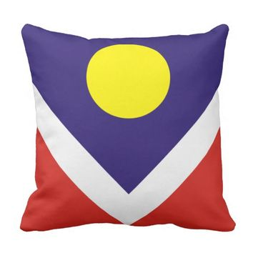Flag of Denver Throw Pillow