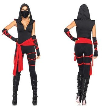 2015 New Anime Ninja Cosplay Mask Black Hooded Costume Assassin Game Cosplay Women Adult Sexy Anime Ninja Cosplay Clothes