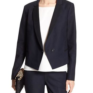 Banana Republic Factory Colorblock Tuxedo Blazer