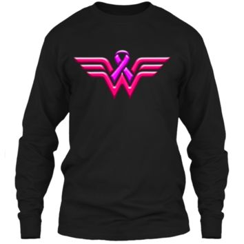 Breast Cancer Awareness T Shirt For Women LS Ultra Cotton Tshirt
