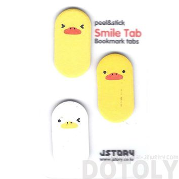 Yellow Baby Chick Bird Shaped Animal Themed Memo Post-it Sticky Bookmark Tabs