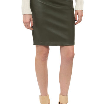 Getting Back to Square 1 - Leather Above The Knee Skirt