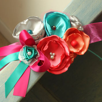 Brightly Colored Sash for Maternity, Wedding, Pregnancy Photo Prop, Baby Shower