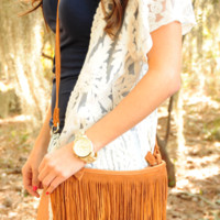 Oh My Fringe Purse: Caramel