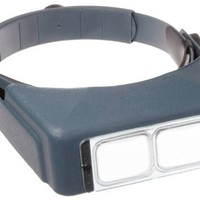 "Donegan OptiVISOR LX Binocular Magnifier-Lensplate #4 Magnifies 2X At 10"" Focal Length"