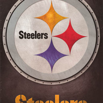 Pittsburgh Steelers NFL Football Logo Poster 22x34