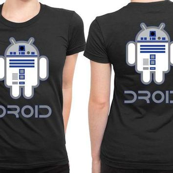 DCCKG72 Star Wars Robot An Droid 2 Sided Womens T Shirt