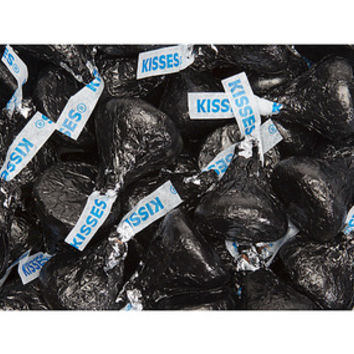Hershey's Kisses Black Foiled Milk Chocolate Candy: 4LB Bag