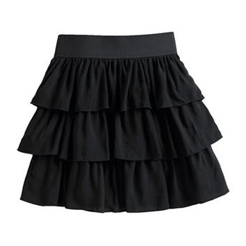 Ally B Girls 7-16 Tiered Skirt