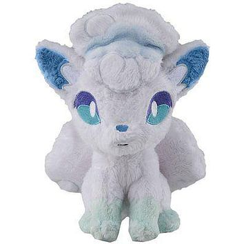"Takara Tomy Pokemon Sun & Moon Alola / Alolan Vulpix 8"" Stuffed Plush USA Seller"