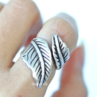leaf ring, retro leaf ring, laurel ring, tree ring, man ring, adjustable ring, retro ring, wrap ring, unique ring, leaves ring, stretch ring