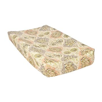 Baby Covers - Waverly Rosewater Glam Damask Changing Pad Cover