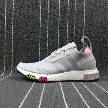 Adidas Boost Nmd Racer Spring NMD 3 Grey Women Men Fashion Trending Running Sports Shoes Sneakers