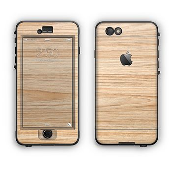 The LightGrained Hard Wood Floor Apple iPhone 6 LifeProof Nuud Case Skin Set