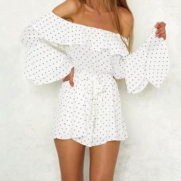 Angel Polka Dot & Sashed Romper