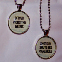 Supernatural Driver Picks The Music Necklace Set. Best Friends Necklace Set. 18 Inch Ball Chains.