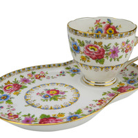 Afternoon Tea Cup and Cookie Plate by Grafton Vintage English