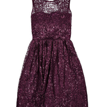 Ophelia Metallic Lace Dress  (Alice + Olivia)