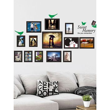 Bird Blank Frame Wall Stickers - Words & Quotes Wall Stickers Characters Study Room / Office / Dining Room / Kitchen