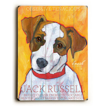 Jack Russell by Artist Ursula Dodge Wood Sign