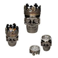 King Skull - Metal Herb Grinder - 3-part - Herb Grinders - Smoking Accessories - Grasscity.com