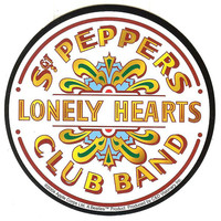 The Beatles Vinyl Sticker Sgt Peppers Lonely Hearts Club Band