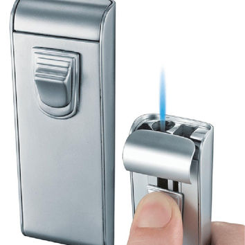 Visol Maximus Chrome Matte Wind-Resistant Torch Flame Lighter