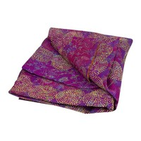 Pre-owned Lavender Chakra Silk Kantha Throw