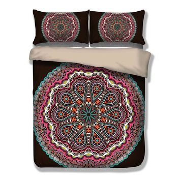 Mandala Bedding Set Bohemian Bedding Duvet Cover Sets Boho Bedlinen Twin Full Queen King 3PCS New