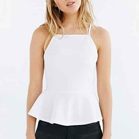 Cooperative Square-Neck Peplum Tank Top-