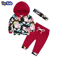 Newborn babies Clothing set Girl Baby Sets Long Sleeve Cotton Baby Girl Clothes Hoodies Pant sets