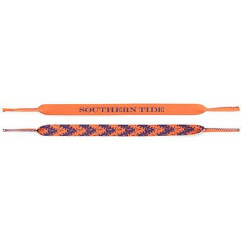 Gameday Skipjack Sunglass Straps in Endzone Orange & Regal Purple by Southern Tide