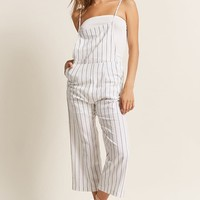Cropped Stripe Jumpsuit