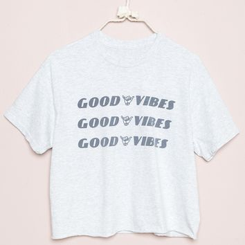 e844258f ALEENA GOOD VIBES TOP from Brandy Melville | Clothes