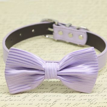 Lavender Dog Bow Tie, Pet Wedding accessories, Lavender wedding