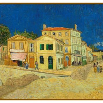 The Yellow House Detail by Vincent Van Gogh Counted Cross Stitch or Counted Needlepoint Pattern