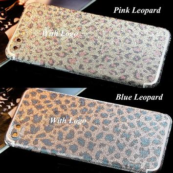 "Shinning Bling Glitter DIY Phone Stickers For iPhone 7 4.7"" Back and Front Decal Skin Glitter Phone Sticker Wrap Protector Film"
