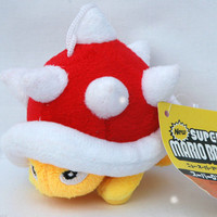 "Super Mario Bros Plush Spiny Koopa Soft Toy 4"" Stuffed Animal Doll Figure Kids Gifts"
