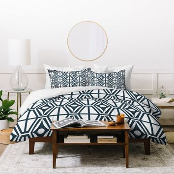Heather Dutton Metro Steel Duvet Cover
