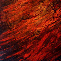 Red and Black Abstract Painting With Textures Pallet Knife Strokes