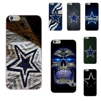 Omdnwd TPU Cell Phone Cases Dallas Cowboys For Xiaomi Redmi 5 4A 3 3S Pro Mi4 Mi4i Mi5 Mi5S Mi Max Mix 2 Note 3 4 Plus