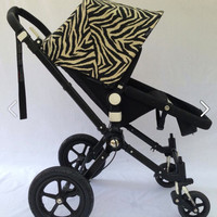Sample Sale!  Zebra Replacement Canopy or Hood for Bugaboo Cameleon or Cameleon3. 25%off