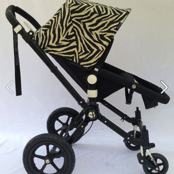 Stunning Zebra Replacement Canopy or Hood for Bugaboo Cameleon, Frog,  Bee, Original Bee, Donkey