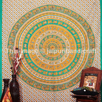 Elephant Mandala Tapestry, Bedsheet Bohemian Wall Hanging Hippy Tapestry, Colorful Tapestry, Mandala Tapestry, Indian Tapestry, Elephant