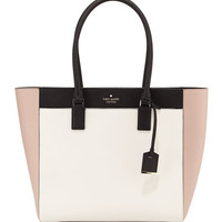 kate spade new york cameron street havana colorblock tote bag w/ laptop pocket