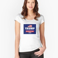 'PRESIDENT DONALD TRUMP GIFT ITEMS' Women's Fitted Scoop T-Shirt by EmilysFolio
