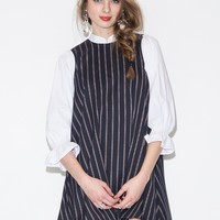 ella striped babydoll dress