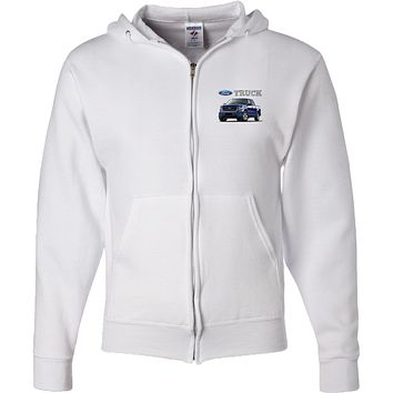 Ford F-150 Truck Full Zip Hoodie Pocket Print